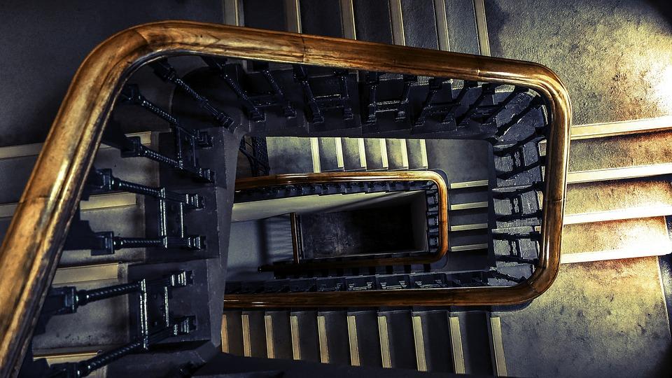 Verouderde trap